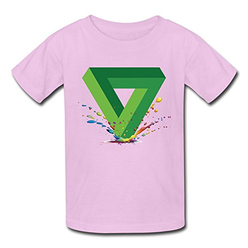 Kids Boy's & Girl's Penrose Triangle Cute T Shirts Size M Pink