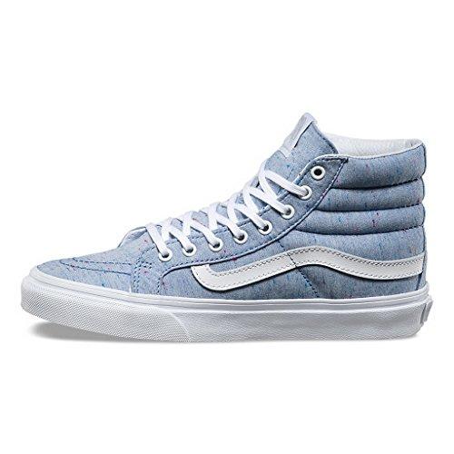 Fourgons Des Femmes De Métal En Feuille Basket-sk8 Salut Mince Bleu / Blanc Véritable
