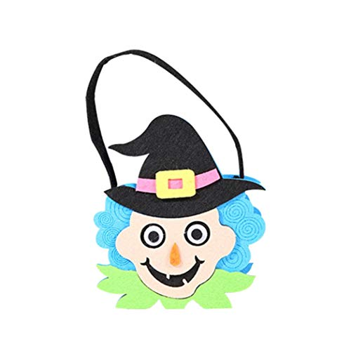 Halloween Trick or Treat Drawstring Candy Bags GoodLock Witches Gift Bags for Kids Party Favors Supplies (B) ()