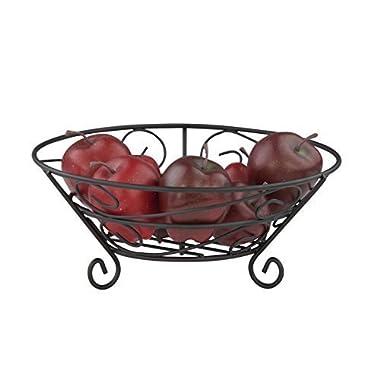 Home Basics Black Fruit Basket