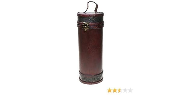 Compra CHRISTIAN GAR Caja de Madera Decorada para Botella de Vino - Caja para Regalo/Decoración (Diámetro: 11 cm, Altura: 29, 5 cm) F-136 en Amazon.es