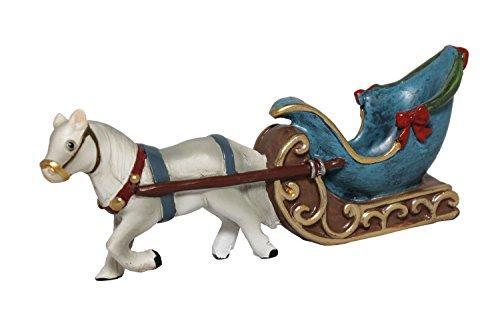 Miniature Fairy Garden Christmas Horse and Sleigh - Holiday Decor