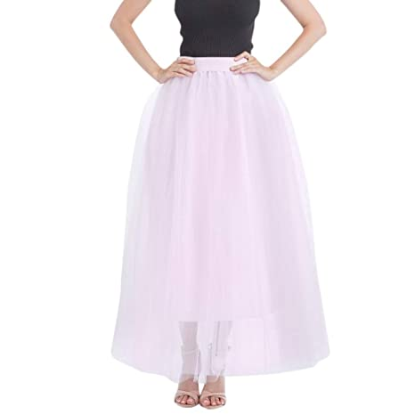 Sunday - Falda larga de ballet para mujer, tutú, falda de tul ...