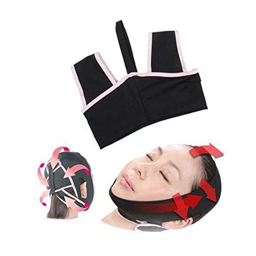 Tinksky Novità V-linea viso 3D guancia mento Liftup plasmare dimagranti cintura sonno cintura antirughe viso maschera cintura - taglia L