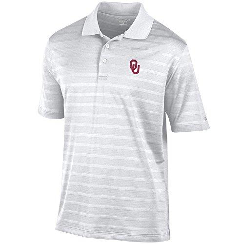 Elite Fan Shop Oklahoma Sooners Polo Shirt White - L