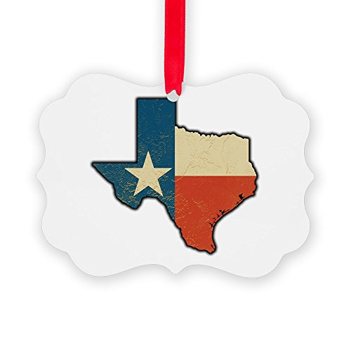 - Picture Ornament (2-Sided) Texas Flag Texas Shaped