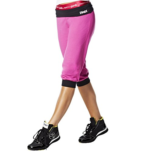 Zumba Fitness Groove for the Cure Logo Stamp Capri Pants -