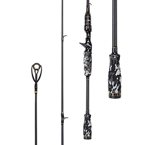 - Entsport Camo Legend 1-Piece 7-Feet Casting Rod 24 Ton Carbon Fiber Baitcasting Fishing Rod Medium Heavy Bass Fishing Rod Baitcast Rod Baitcaster (7'- Medium Heavy- 1pcs)