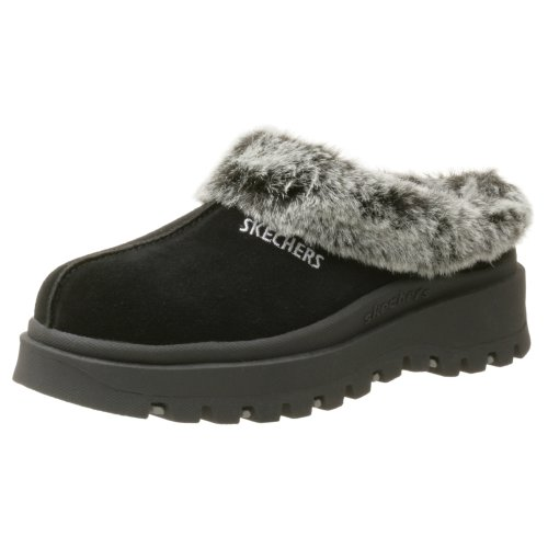 - Skechers Women's Fortress Clog Slipper,Black,8 M US