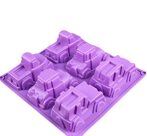 FantasyDay 2 Pack Carton Truck Jeep Car Mold Silicone Baking Molds Bakeware for Birthday Theme Party, Muffin Cups, Ice Cube, Soap, Wafer, Cake, Bread, Tart, Pie, Flan, Pudding, Candy and More #2]()