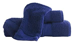 Famous Maker Supima Bath Towel 2-Pack with Free Washcloth 2-Pack, Lapis