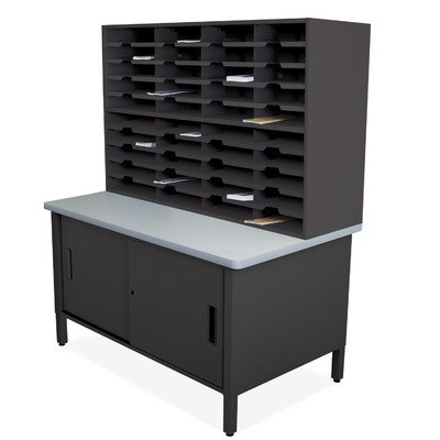 Mailroom 40 Slot Organizer with Cabinet Finish: Black