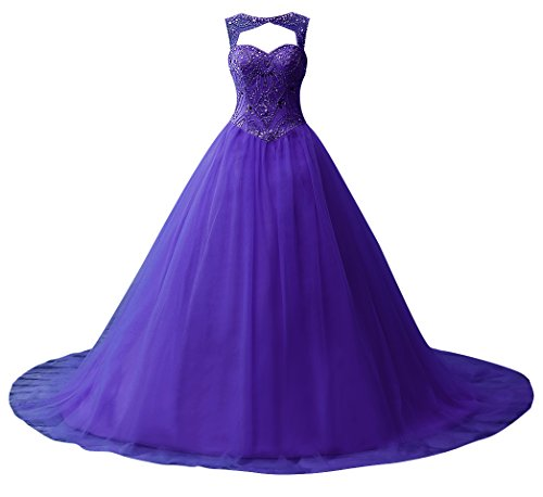 Long Beading Regency Tulle Quinceanera Gown Prom Gown Dresses Ball JAEDEN Dress AqYSIPn4P