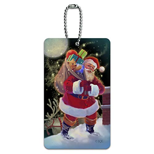 - Christmas Holiday Santa Chimney Magic Luggage Card Suitcase Carry-On ID Tag