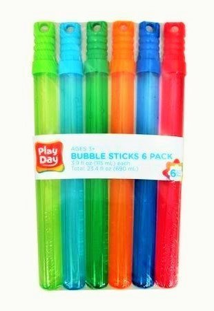 6 Pack Stick (Play Day Bubble Sticks 6 Pack)