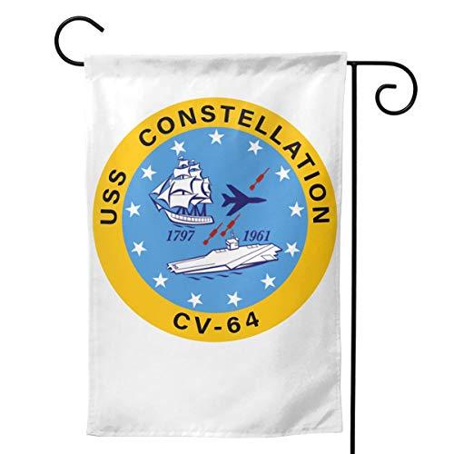 - Sendyhuayuanqiduoma3 USS Constellation CV-64 Aircraft Carrier Insignia Garden Flag Home Flag Outdoor Flags