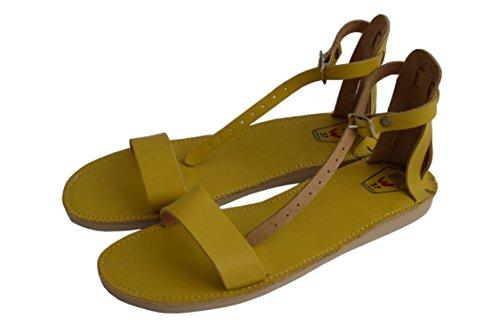 WOJCIAK - Sandalias de vestir de Piel para mujer Amarillo amarillo
