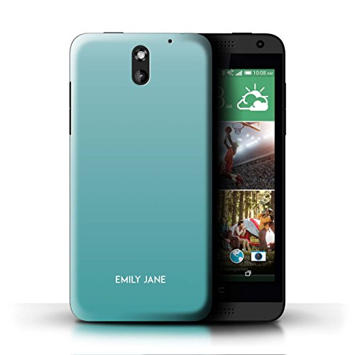 Personalized Custom Ombre Colours Case for HTC Desire 610 / Teal Shades Design/Initial/Name/Text DIY - Desire Htc Cases 610 Teal For