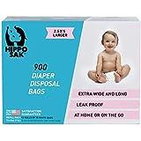 Hippo Sak Diaper Disposal Bags, 900 Count, white