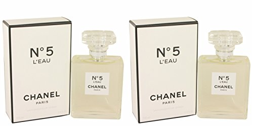 Chànel Nô. 5 L'eàu Pérfume For Women 3.4 oz Eau De Toilette Spray + a FREE 6.7 oz Hand & Body Cream (PACKAGE OF 2)
