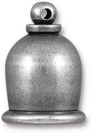 #CK366 8mm Tin Oxide TierraCast Taj Mahal Cord End 5 Pcs