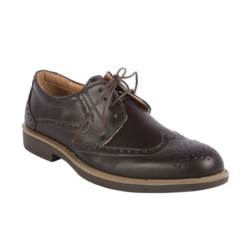Mens Edison12 Classica Perforata Punta Dellala Oxford Marrone