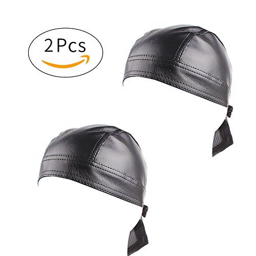 Leather Motorcycle Cap - 3