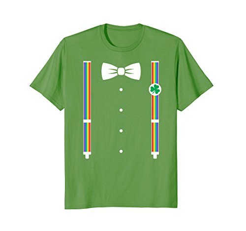 Rainbow Suspenders Bow Tie St. Patrick's Day T-shirt