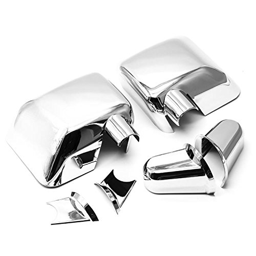 S SIZVER Chrome Full Door Mirror Covers Kit Compatible with 2007-2018 Jeep Wrangler JK Generation (Jeep Chrome Wrangler Mirror Covers)