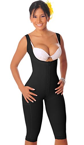 Salome 0520 Women Post Surgery Full Body Shaper with Zipper Shapewear Fajas Colombianas Reductoras Moldeadoras Completas Post-operatorias Black 3XL Contour Compression Garments