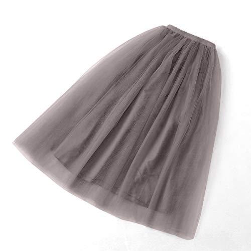 baile capas Noche Chica Mujer El tul de Vendimia Largo Enagua Elegante Gasa plisada Tutu Aivtalk 5 Falda de xwvnWqCFz7