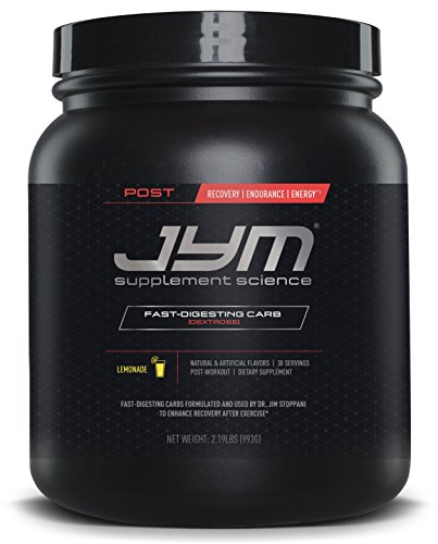 JYM Supplement Science, POST JYM Fast-Digesting Carb, Post-Workout Powder, Lemonade, 30 - Glycogen Supplement