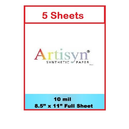 Waterproof Paper - Artisyn - 5 Sheets - Highest Print Quality by easyIDea