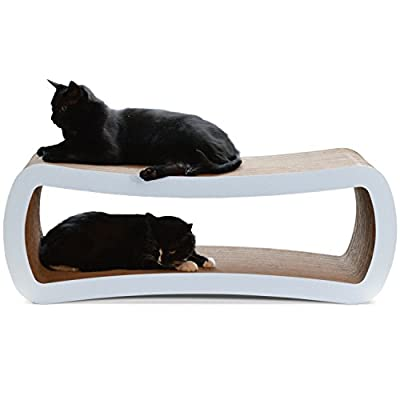 Cat Scratching Post PetFusion Jumbo Cat Scratcher Lounge. [Superior Cardboard &...