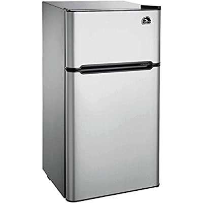 Igloo FR459 2 Door Refrigerator/Freezer, Platinum, 4.5 cu. ft.