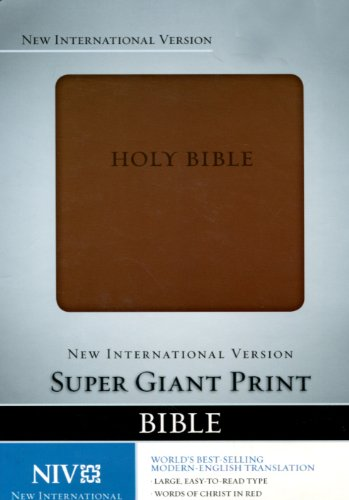 Giants Italian - NIV Super Giant Print Bible, Italian Duo Tone Brown