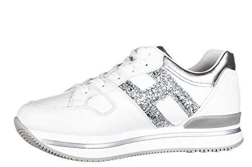 Hogan BabyschuheSneakers Kinder Baby Schuhe Mädchen Leder Turnschuhe j222 h gra