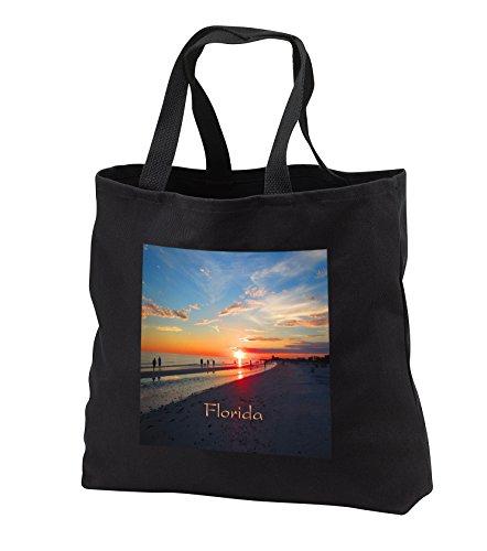 Florida - Image of Siesta Key Beach Off Sarasota - Tote Bags - Black Tote Bag JUMBO 20w x 15h x 5d - Sarasota Florida Shopping