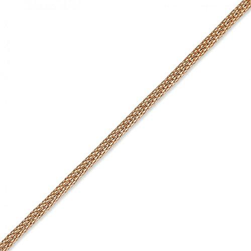 Bracelet fantaisie schlauchkette 7 mm environ 750 couleur or rose 19 cm