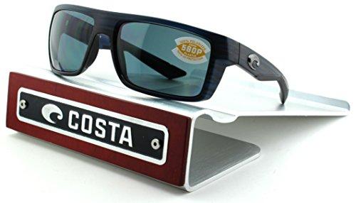 Costa Del Mar Motu 580P Matte Black Teak Frame /Grey Lens (MTU111/OGP)