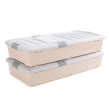 Caja de almacenamiento de madera maciza Caja de almacenamiento, cama grande Caja de almacenamiento inferior