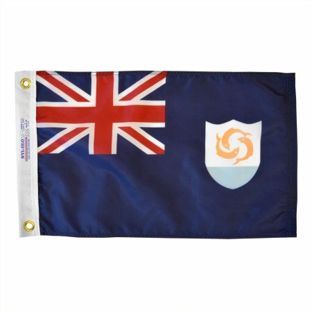Anguilla Indoor Outdoor Dyed Nylon Boat Flag Grommets 12