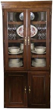 Forest Designs Traditional Bookcase Glass Doors: 36W x 84H x 18D 84h Ebony Oak