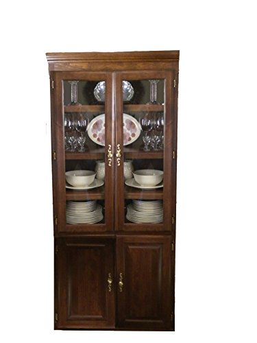 Forest Designs Traditional Bookcase Glass Doors: 36W x 96H x 18D 96h Cherry Oak -
