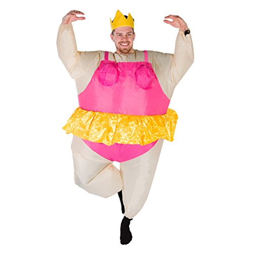 Bodysocks Adult Inflatable Ballerina Fancy Dress Costume - Inflatable Ballerina