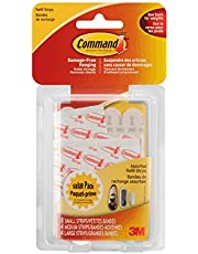 Command Assorted Refill Strips, White, 8 Small 4 Medium 4 Large Strips