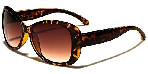 Tortoise Shell Butterfly Golden Lining Women'S Fashion Sunglasses ()