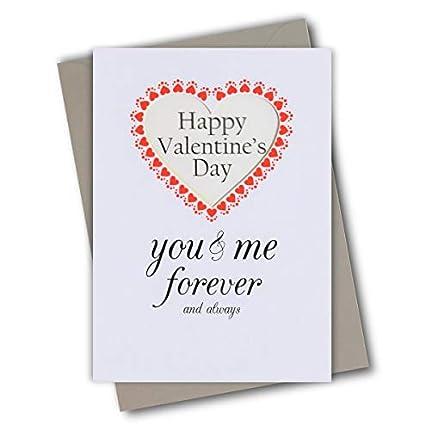 Claire Giles Tarjeta de San Valentín, You & Me Forever ...