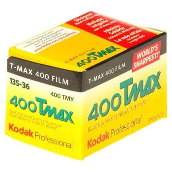 Kodak 400 TMAX Professional ISO 400, 36mm, 36 Exposures, Black and White Film