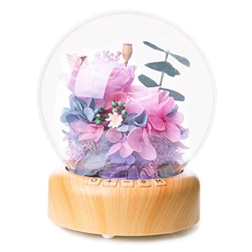 Masun Flower Music Ball Streamer Night Light to Send Lovers Eternal Flower Gift Bluetooth Audio